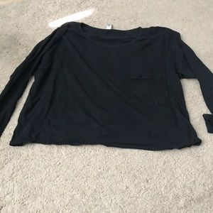 American apparel long sleeve with pocket